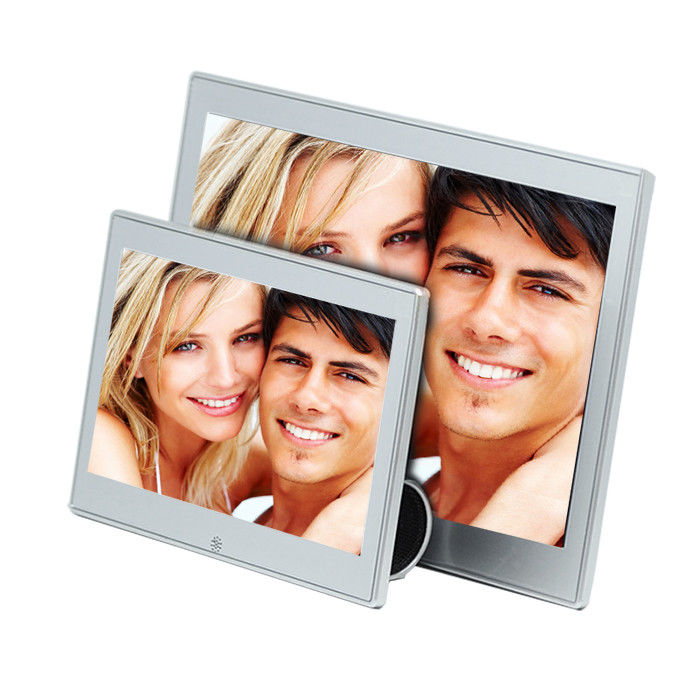 7 Inch Metal Case Video Digital Photo Frame With Clock And Calendar 250cd/m2