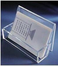 Magazine Transparent Acrylic Display Stands Brochure Holder With Artwork Printing